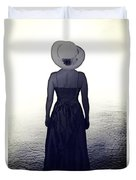 Woman At The Shore Duvet Cover by Joana Kruse