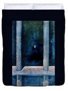 Woman In Jail Duvet Cover by Jill Battaglia