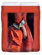 Woman In Red 18th Century Gown Duvet Cover