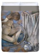 Woman In The Tub Duvet Cover by Edgar Degas