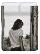 Woman In Window Duvet Cover