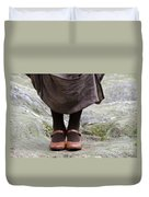 Woman Legs With Shoes Duvet Cover
