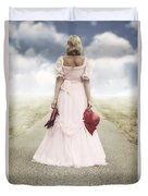 Woman On A Street Duvet Cover