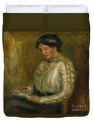 Woman Reading  Duvet Cover