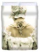 Woman With Bonnet Duvet Cover