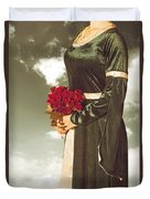 Woman With Roses Duvet Cover by Joana Kruse