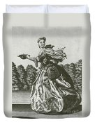Woman With Surgical Equipment, 18th Duvet Cover