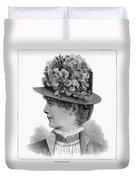 Womans Hat, 1883 Duvet Cover