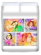 Woman's Soul Duvet Cover
