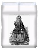 Womens Fashion, C1850s Duvet Cover