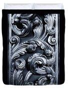 Wood Carving Patterns Duvet Cover