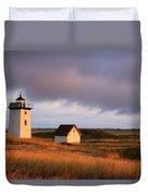 Wood End Lighthouse Landscape Duvet Cover