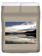 Wood Lake Mirror Image Duvet Cover