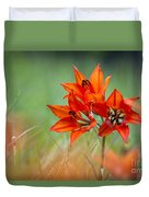 Wood Lily Duvet Cover