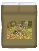Wood Spoked Wheel Duvet Cover