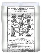 Woodcut, 1750 Duvet Cover by Science Source