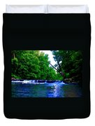 Wooded Waterfall Duvet Cover by Bill Cannon