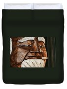 Wooden Head With Cigarette Duvet Cover