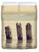 Wooden Piles Duvet Cover
