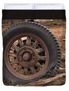 Wooden Spoked Tire Duvet Cover