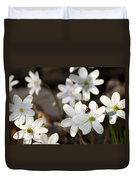 Woodland Flora And Friend Duvet Cover