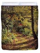 Woodland Path, Mount Stewart, Ards Duvet Cover