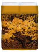 Woods Of Yellow Duvet Cover