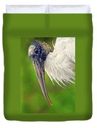 Woodstork Portrait Duvet Cover