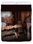 Woodworker - Lathe - Rough Cut Duvet Cover