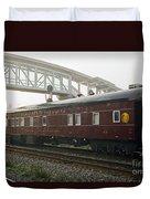 Work Train Duvet Cover