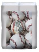 World Baseball Duvet Cover