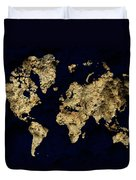 World Map Rock Duvet Cover