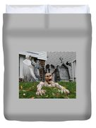 Worms Eye View Of Terror Duvet Cover