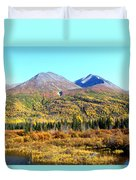 Wrangell Mountains Colors Duvet Cover