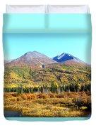Wrangell Mountains Colors Duvet Cover
