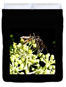 Wrangling Wasps Duvet Cover