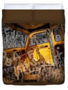 Wreck On The Information Highway Duvet Cover
