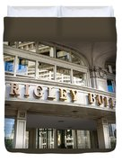 Wrigley Building Sign In Chicago Duvet Cover
