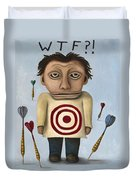 Wtf 2 With Words Duvet Cover