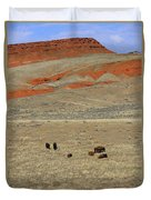Wyoming Red Cliffs And Buffalo Duvet Cover