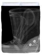 X-ray Of A Childs Light-up Boot Duvet Cover