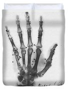 X-ray Of A Hand With Buckshot Duvet Cover