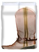 X-ray Of Cowboy Boot Duvet Cover