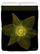X-ray Of Daffodil Flower Duvet Cover