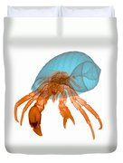 X-ray Of Hermit Crab Duvet Cover