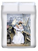 Yachting Costume, 1894 Duvet Cover