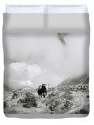 Yak In The Himalaya Duvet Cover