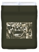 Yankee Soldiers Around A Piano Duvet Cover by Photo Researchers