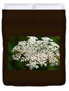 Yarrow Plant Flower Head  Duvet Cover