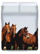 Yearling Thoroughbred Duvet Cover
